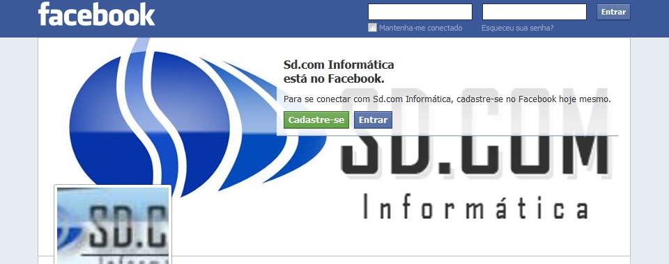 SD.COM Informática no Facebook