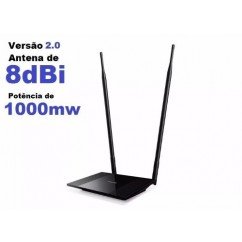 ROUTER HIGH POWER TP-LINK TL-WR841HP V2 300MB 2 ANTENAS 8 DBI  1.000MW