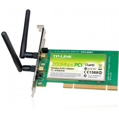 ADAPTADOR TP-LINK WIRELESS 300MB PCI TL-WN851ND 2 ANTENAS