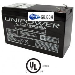 BATERIA SELADA UNIPOWER UNICOBA P/ NOBREAK/CENTRAL ALARME 12V 7,0A